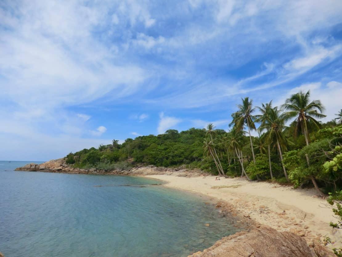 Palmenstrand von Thailand